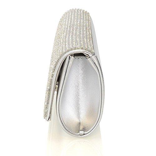Saile's - Borsetta senza manici donna (argento)