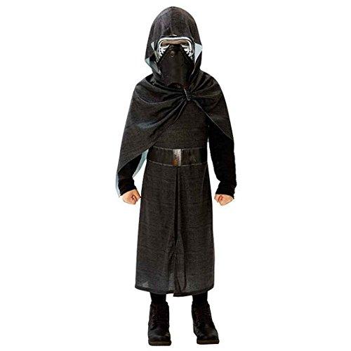 (Kylo Ren Deluxe Kostüm Kylo Ren Deluxe Kostüm 146/152 cm 11-12 Jahre Sith Verkleidung Kinder Dunkler Jedi Faschingskostüm Karnevalskostüm Jungen Starwars Robe mit Maske)