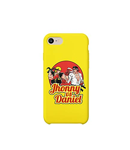 GlamourLab Karate Kid Johnny Vs Daniel Movie Duel Characters_R5027 Protective Case Cover Hard Plastic Compatible with for iPhone 8 Plus Funny Gift Christmas Birthday Novelty