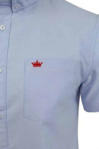 Chemise Oxford à manches courtes et col à boutons 'Senate Brave Soul pour homme Bleu