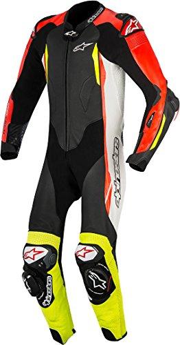 Alpinestars GP Tech V2 Tuta da moto in pelle, bianco/nero