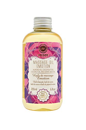 SAULES Fabrika natürliches Massage-Öl Massage oil mit Duft Körperöl Wellness Beauty Massageöl Bio 200ml (Emotion)