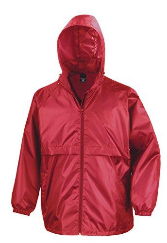 Result New Core Veste Coupe-Vent Homme pour Adulte Léger Fermeture Éclair Veste - Rouge - Medium