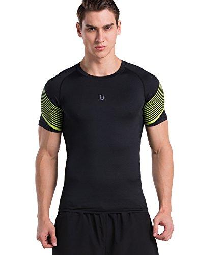 Red Plume Herren Freizeit Sport atmungsaktiv schnell trocknend T-shirt Übung laufen Fitness Top (color5, (Für Eishockey Jungen Kostüme)