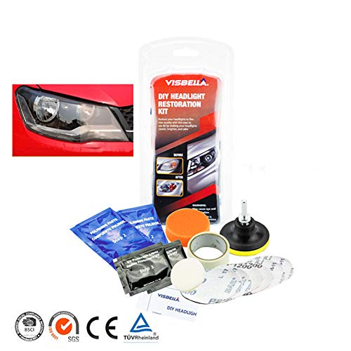 sweetlife Renovateur Phare Voiture Kit, Rénovation Optique de Phare Kit de Polissage Lustreur Réparation Headlight Restore Auto par