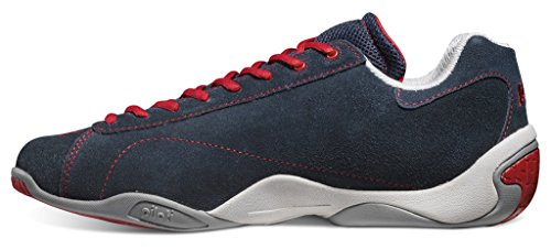 Piloti Prototipo Low Profile Casual Driving Shoe Navy Bleu Marine/rouge/blanc