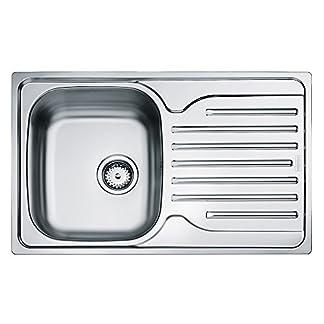 Franke 101.0251.297acero inoxidable fregadero de cocina (con cuenco individual–gris