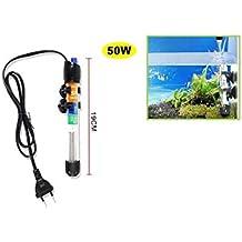 Cisne 2013, S.L. Calentador de Acuario Sumergible de 50W con indicador Temperatura y termostato de