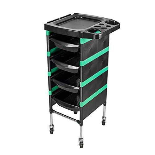 Regal-hpq carrello per parrucchiere estetista portaoggetti porta con ruote 5 salone barbieria nero,verde