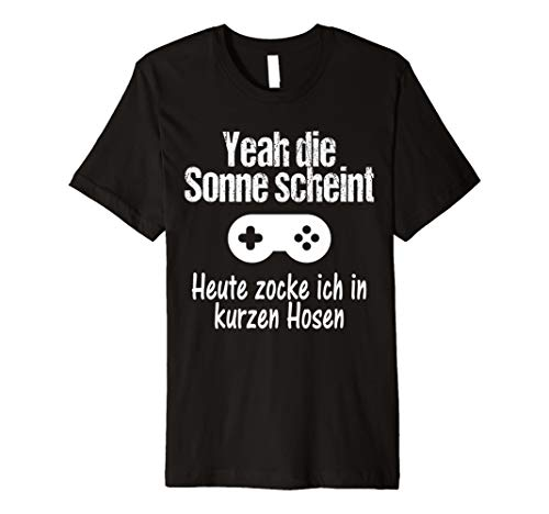 Sonne Zocker Gamer Lustiges Geschenk Vatertags Shirt Witzig T-Shirt