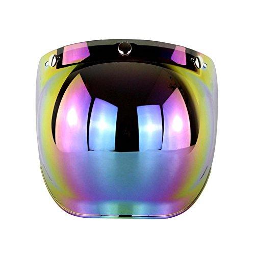3-Knopf Bubble Visier Vollvisier Für Retro Motorradhelm mit Halterung