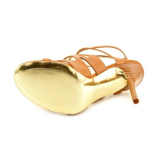 Michael Michael Kors Yvonne Ankle Strap Cuir Sandales Luggage