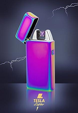 Tesla Lighter T05 (Dual Arc) in der Farbe Pink