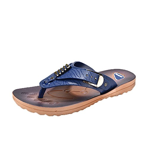 Christalor Men's Flip Flops Thongs – MemoryFit Comfy Sandals Beach/Pool/Indoor Lightweight Summer,Men Slippers Beach Shoes Flip Flop Summer Flat Slides Footwear Soft Sandal Shoes