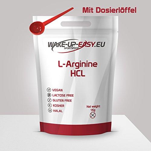 L - Arginine pure en poudre 1kg (facilement soluble), cuillère doseuse incluse