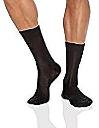 Punto Blanco Hilo Escocia Canalé Calcetines cortos para Hombre