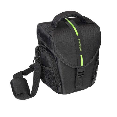 Pedea 65060302 Essex - Funda para cámara réflex (correa y bolsillos para accesorios, tamaño grande)