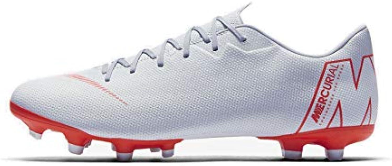 Nike Vapor 12 Academy FG/MG, Zapatillas Unisex Adulto, Multicolor (Wolf Grey/Bright Crimson/Pure Platinum 001)...