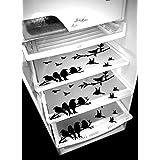 Deerosita Plastic Fridge Mat Refrigerator Drawer Mat/Fridge Mat/Place Mat Set Of 3 Pcs (12 * 17 Inches) Multi Purpose Use { Random Color Will Be Sent As Per Availability}