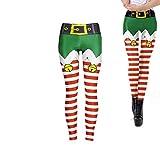 Weihnachten Yoga-Hosen-Strumpfhosen Herrliche Streifen Leggings mit hoher Taille Gamaschen für beiläufige Sport-Gymnastik-Training Laufen Cosplay - Größe XL