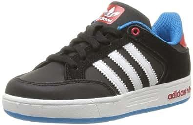 adidas Originals Varial J-6 G98146, Unisex - Kinder Sneaker, Schwarz (BLACK 1/LIGHT SCARLET/SOLAR BLUE S14), EU 38 2/3