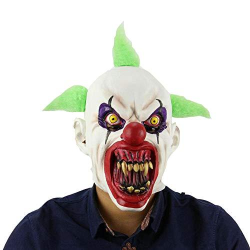 QJKai Blut Mund Clown Maske Halloween Horror Gesicht Vendetta Maske Latex Maske