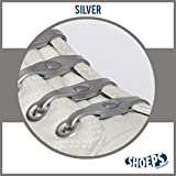 Shoeps Elastic Schnürsenkel silber silber Normal (14 im Pack)