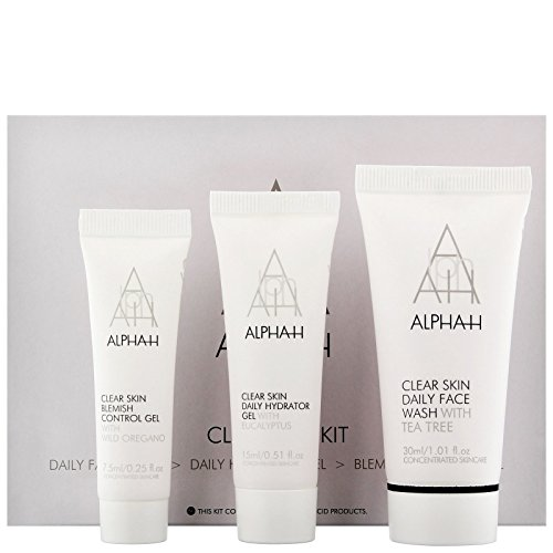 Alpha-H Clear Skin Kit Cleanse Hydrate Purify, 3-Piece