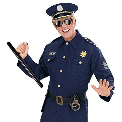 NET TOYS Polizei Stock Schlagstock Polizisten Knüppel Polizeistock Polizistenknüppel Polizeiknüppel Kostüm Zubehör Cop Fasnet Fasnacht (Cop Kostüm Zubehör)