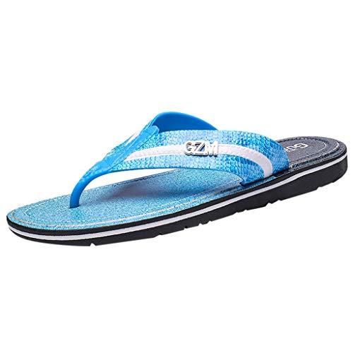 iHAZA Männer Flip Flops Freizeitschuhe Strand Sandale Sommer Atmungsaktive Schuhe
