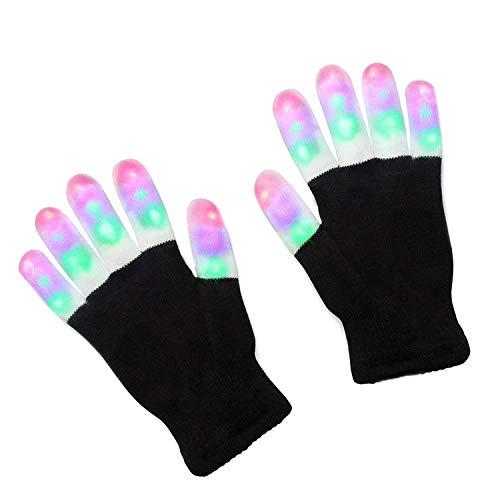 Leuchtende Handschuhe, blinkende Fingerlichter, Spielzeug mit 3 bunten -