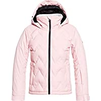 Roxy Girls Breeze Girl Snow Jacket for Girls 8-16, Powder Pink, 12/L