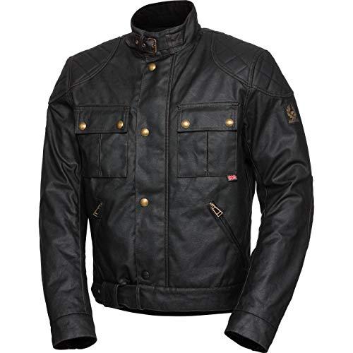 Belstaff Motorradjacke, Motorrad Jacke Brooklands 2.0 Textiljacke schwarz L, Herren, Chopper/Cruiser, Ganzjährig, Baumwolle