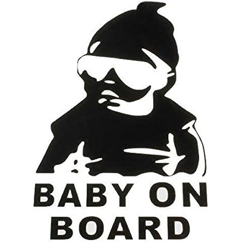 Poseidon Bebé a bordo pegatinas de camiones auto ventana del vinilo del coche calcomanía para el parachoques divertida