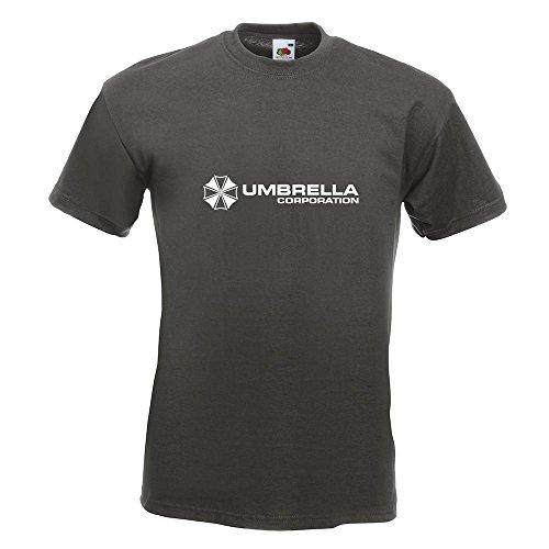 KIWISTAR - Umbrella Corperation T-Shirt in 15 verschiedenen Farben - Herren Funshirt bedruckt Design Sprüche Spruch Motive Oberteil Baumwolle Print Größe S M L XL XXL Graphit