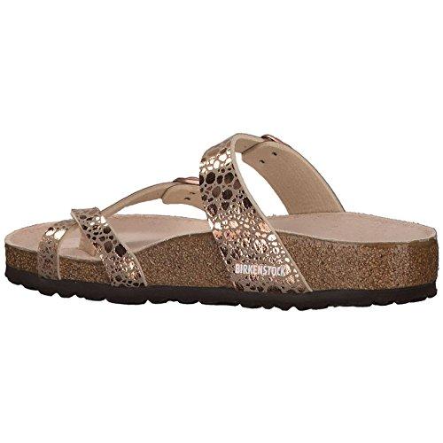Birkenstock Womens Mayari Birko-Flor Sandals Metallic Stones Copper