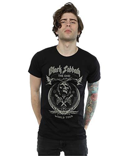 Black Sabbath hombre The End World Tour Camiseta Medium Negro