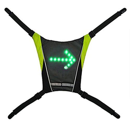 Jacke Blinklicht für Fahrrad und MTB bikcy. Warndreieck für Radfahrer. In Geschenk: kabellose Fernbedienung mit Batterien