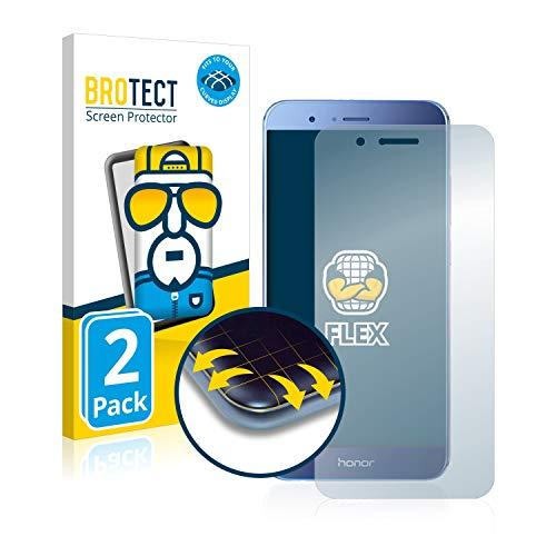 BROTECT Full-Cover Schutzfolie kompatibel mit Honor 8 Pro (2 Stück) - Full-Screen Bildschirmschutz-Folie, 3D Curved, Kristall-Klar