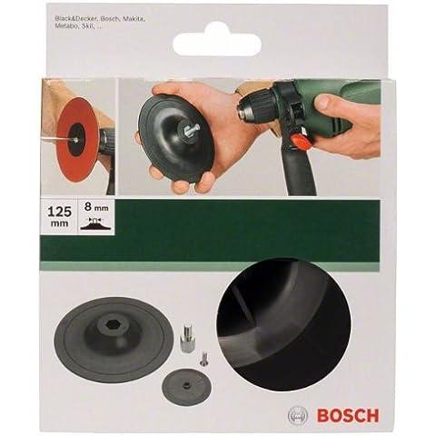 Bosch 2 609 256 281 - Plato lijador para taladradoras, 125 mm, con sistema de sujeción