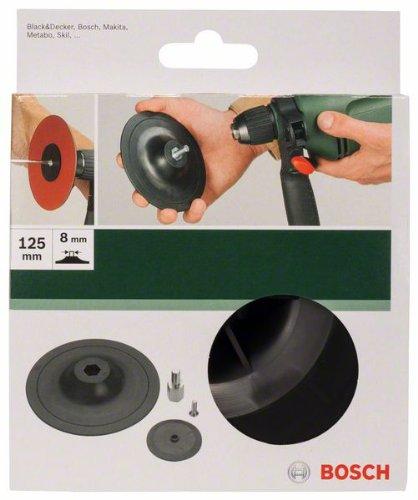 Bosch DIY Schleifteller (für Bohrmaschinen, Ø 125 mm, Spannsystem)