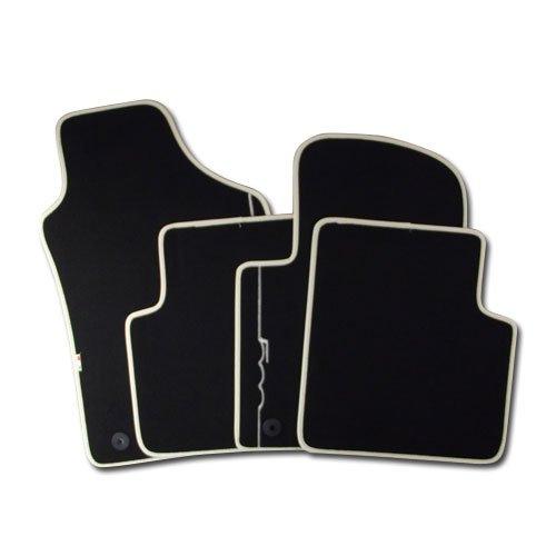 Fiat Tapis de sol en velours avec bordure de couleur ivoire pour Fiat 500 Produit d'origine