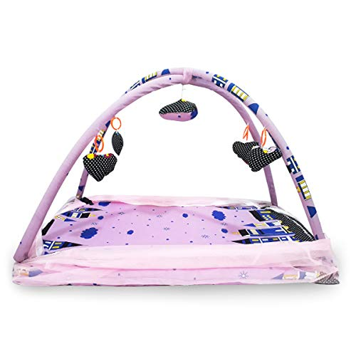 Folding Baby Moskitonetz Infant Pop Up Reise Wiegenbett Tragbare Krippen Bett, Faltbare Tragbare Krippe Netting für Baby (Rosa/Schwarz) - Netting-bett Schwarz