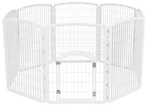 Iris Panel de ejercicio mascotas Parque de juegos con puerta–34inch