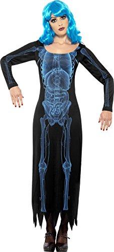 Smiffys, Damen Röntgen Kostüm, Langes Kleid, Größe: S, 29632