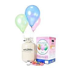 Trendario Party Helium für Luftballons - Ballongas - XL 250 Liter - Heliumbehälter inklusive 30 Ballons zum einfachen befüllen