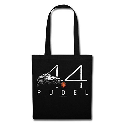 Spreadshirt World Of Tanks 44 Pudel Panzer Stoffbeutel Schwarz