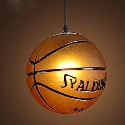E27Industria Baloncesto LED Lámpara de techo Salón Candelabros ajustable altura–Lámpara de techo