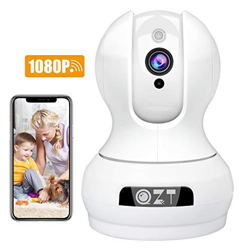 QZT Wlan Kamera, HD 1080P WiFi IP Kamera Home Überwachungskamera mit Nachtsicht, Bewegungserkennung, 2 Wege Audio, App Fernalarm, Ethernet Video Überwachung