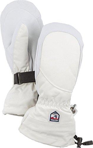 Hestra Henrik Ski-Handschuh Leder Pro Model kurz, Damen, 30611, elfenbeinfarben/gebrochenes Weiß, 7